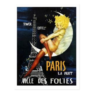 Paris à la carte postale de nuit