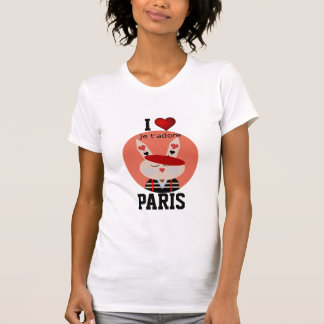 Paris - amour Paris d'I - t'adore de je T-shirt