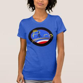 Paris avec le T-shirt de femme de Tour Eiffel de