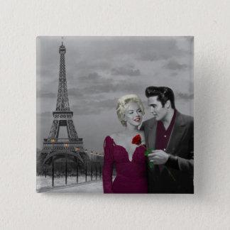 Paris B&W 2 Badge Carré 5 Cm