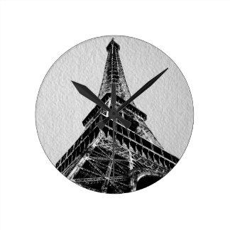 PARIS, FRANCE BW - HORLOGE RONDE