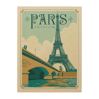Paris France - Tour Eiffel Impression Sur Bois