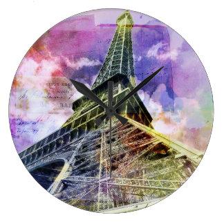 Paris, horloge de Tour Eiffel