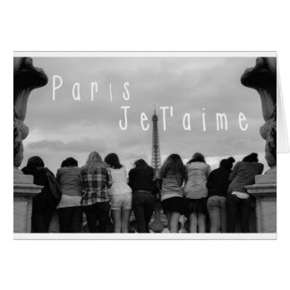 Paris, je t'aime carte