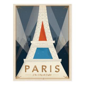 Paris - la ville de la lumière carte postale