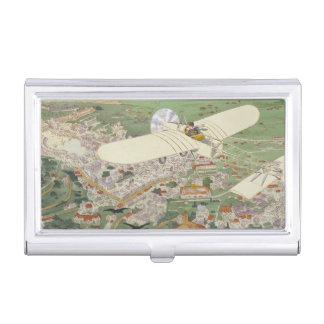 Paris-Rome Monoplane Beaumont Le Gagnant Bleriot Boîtier Pour Cartes De Visite