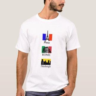 Paris, Rome, Pittsburgh T-shirt