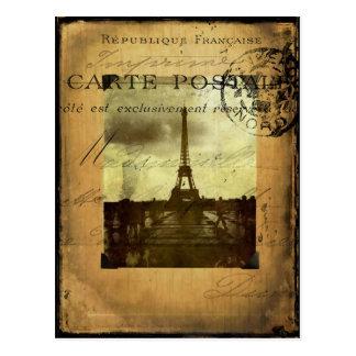 Paris timbré carte postale
