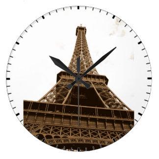 Paris - Tour Eiffel - amour d'I Paris - France Grande Horloge Ronde