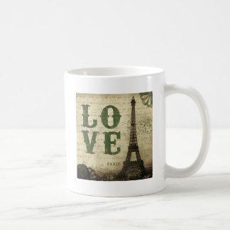 Paris vintage mug blanc