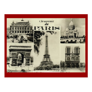 Paris vintage, Paris, multiview tôt Carte Postale