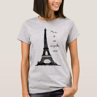 """Parisienne """"aucun regret """" t-shirt"""