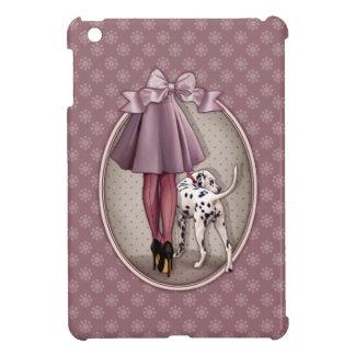 Parisienne et son dalmatien en promenade étui iPad mini