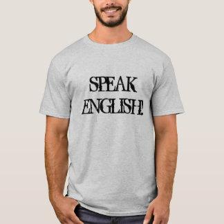 Parlez le T-shirt anglais par gris #SpeakEnglish