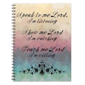 Parlez-moi le carnet de seigneur