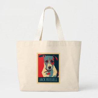 Parodie politique d'espoir de Jack Russel Terrier Grand Tote Bag