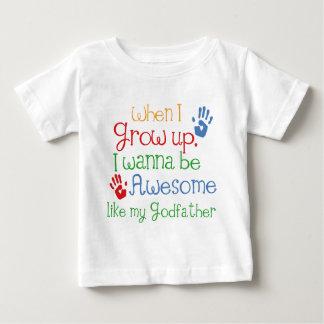 Parrain impressionnant de cadeau de filleul t-shirt pour bébé