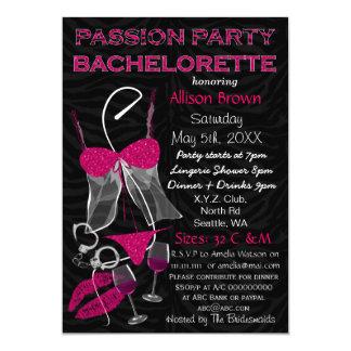 Partie Bachelorette, invitation de passion de