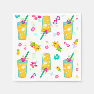 Partie d'ananas serviette en papier