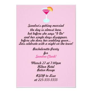 Partie de Bachelorette Carton D'invitation 12,7 Cm X 17,78 Cm