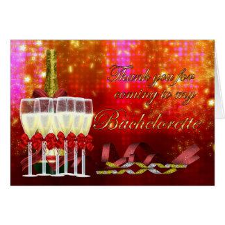 Partie de Bachelorette de carte de remerciements