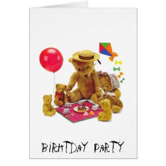 Partie de Birhtday Carte De Vœux