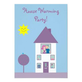 Partie de chauffage de Chambre mignonne et jolie Carton D'invitation 12,7 Cm X 17,78 Cm