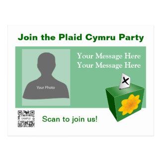 Partie de Cymru de plaid de modèle de carte