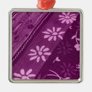Partie de douche rose pourpre de vignes de fleurs ornement carré argenté