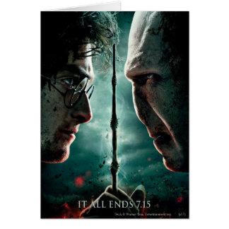 Partie de Harry Potter 7 - Harry contre Voldemort Carte De Vœux