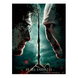 Partie de Harry Potter 7 - Harry contre Voldemort Cartes Postales