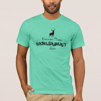 Partie de mâle de célibataire t-shirt