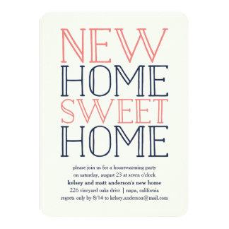 Partie de pendaison de crémaillère de typographie carton d'invitation  11,43 cm x 15,87 cm