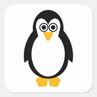 Partie de pingouin sticker carré
