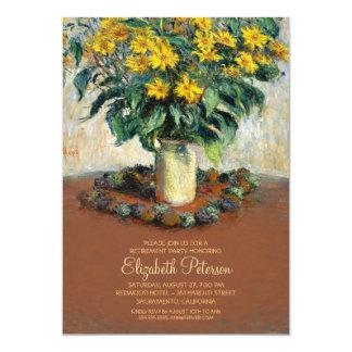 Partie de retraite de beaux-arts de peinture de carton d'invitation  12,7 cm x 17,78 cm