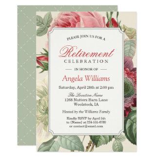 Partie de retraite élégante florale botanique carton d'invitation  12,7 cm x 17,78 cm