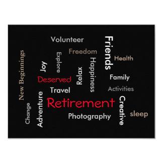 Partie de retraite : Invitation de personnaliser