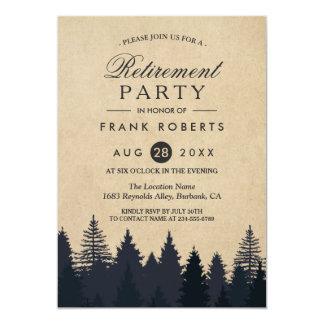 Partie de retraite rustique de Papier d'emballage Carton D'invitation 12,7 Cm X 17,78 Cm