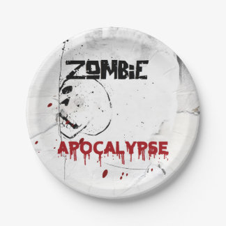 Partie de thème d'apocalypse de zombi assiettes en papier