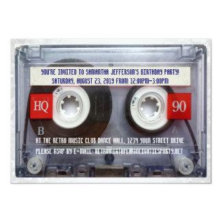Partie drôle de Mixtape de la cassette 80s Carton D'invitation 11,43 Cm X 15,87 Cm