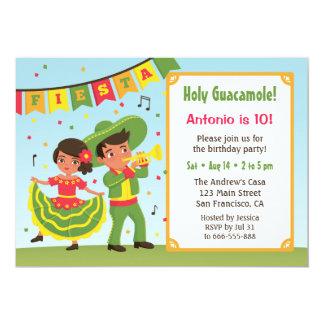 Partie hispanique d'anniversaire de enfant de carton d'invitation  12,7 cm x 17,78 cm
