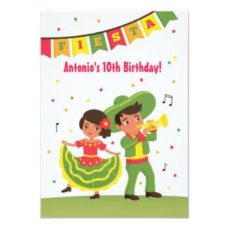Partie latine d'anniversaire de enfant de fiesta carton d'invitation  12,7 cm x 17,78 cm