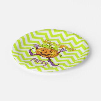 Partie mignonne de Halloween de zigzags de Assiettes En Papier