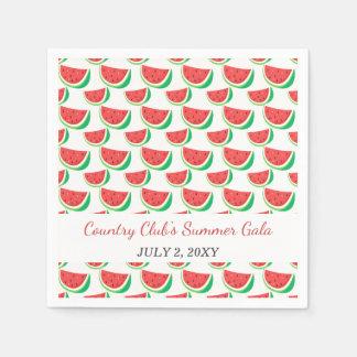 Partie personnalisée d'été de motif de pastèque serviette en papier