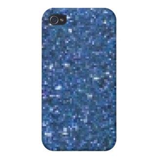 Parties scintillantes bleues coques iPhone 4/4S