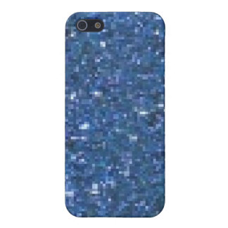Parties scintillantes bleues iPhone 5 case