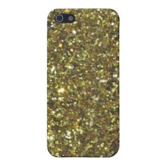 Parties scintillantes d'or (faux) coque iPhone 5