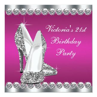 Partij van de Verjaardag van de vrouw de Hete Roze Kaart