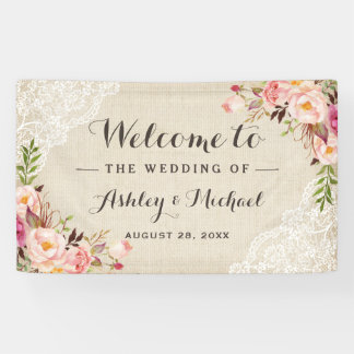 Partij van het Huwelijk van het rustieke van het Spandoek