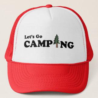Partons casquette campant de pin
